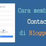 Cara Membuat Halaman Contact US Di Blogger