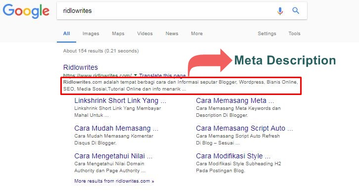 Membuat meta deskripsi di wordpress
