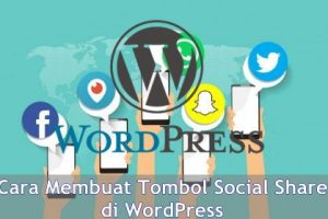 cara memasang social share di wordpress
